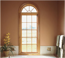 Integrity Fiberglass Wood Ultrex  Round Top Window