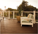Trex porch decking lighting